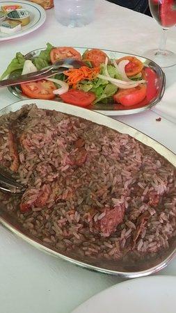 Vidago, Portugal: arroz cabidela con frango do campo