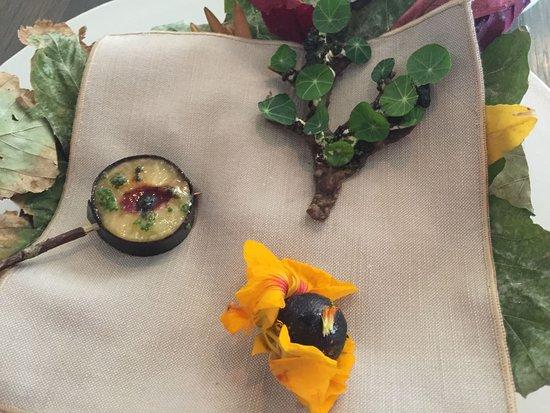 8c736d5ba2 Noma: Plum with kelp skin, flatbread with ant paste; nasturtium with black  currant
