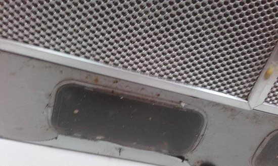 Isleham, UK: Dirty cooker hood
