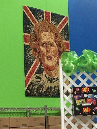 Pleasant Prairie, WI: Margaret Thatcher Jelly Belly portrait