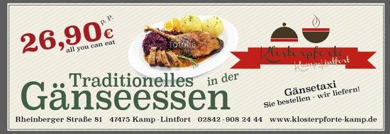 Kamp-Lintfort, Tyskland: Gänseessen