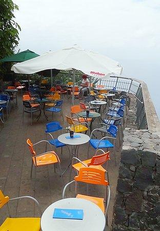 El Sauzal, Spain: Die Terrasse der Gelateria & Cafe.