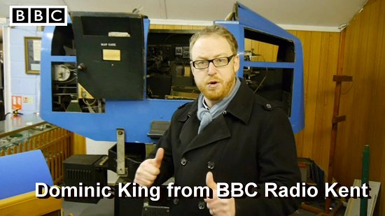 New Romney, UK: Dominic King infront of our Link Trainer