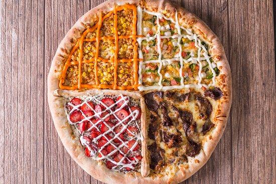 Decima Pizzas - Universitário: Pizza GG, 40cm e 16 fatias.