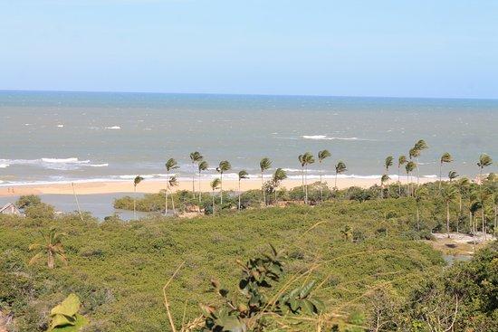 vista da praia tirada do Quadrado de Trancoso