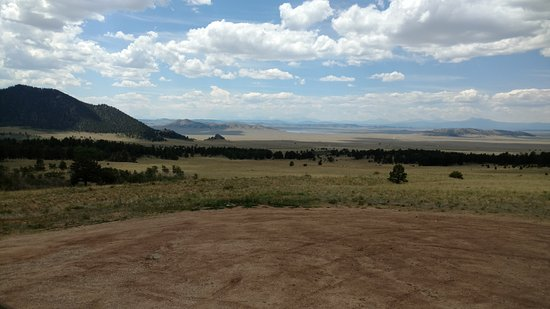 Lake George, Kolorado: It's a long ways across that valley. Look for Pronghorn Antelope.