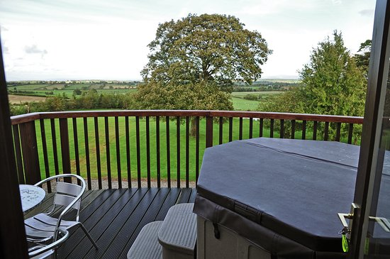 View out from Lounge to Balcony with Hot tub Picture of Monkhouse
