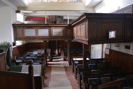 Minstead, UK: inside view of church