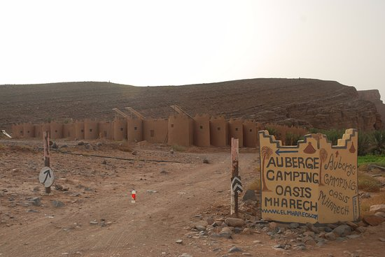 Auberge Camping Oasis El Mharech : Entrada