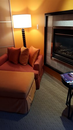 Opus Hotel: Fireplace Made the Room