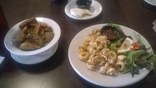 Acworth, GA: Fries Squids and Cajun syyle potatoes