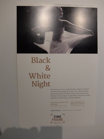 Cape Breton Centre for Craft and Design : Black and white photography exhibit poster