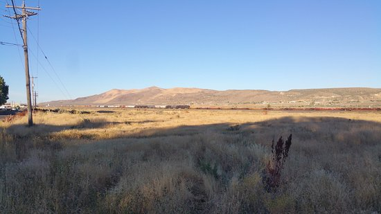 Elko, NV: While walking the dog: View from the gravel road in back of the Gold Country Inn