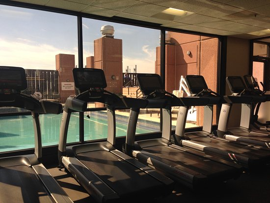 Irving, TX: Westin Workout Fitness Studio with view of pool