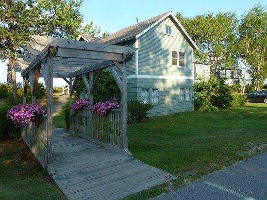 Sebasco Estates, ME: The lovely entrance to our Harbor View Cottage