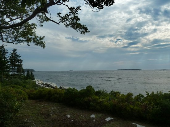 Sebasco Estates, ME: View from the porch