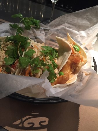 East Islip, NY: Bang Bang shrimp tacos! Also available for Taco Tuesdays! $2 tacos and $5 Margaritas