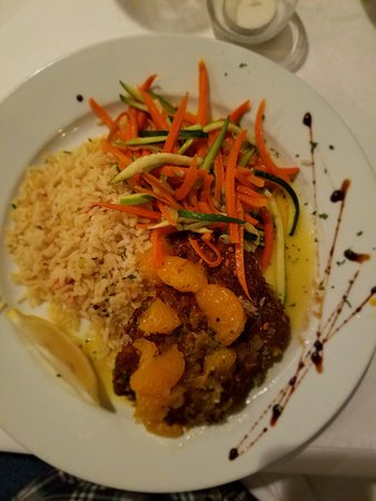 Stratford, CT: Pistachio crusted halibut