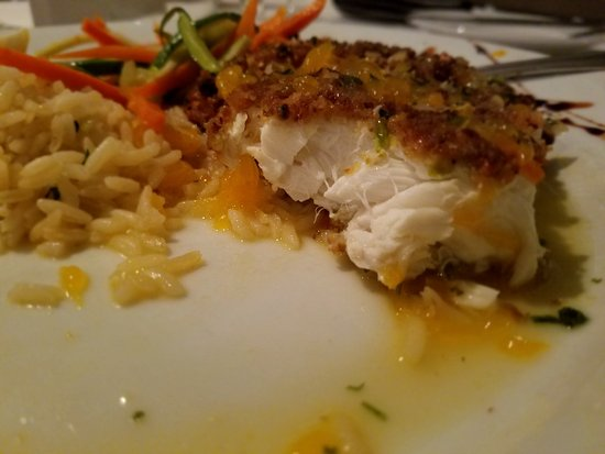 Stratford, CT: Pistachio crusted halibut done perfectly