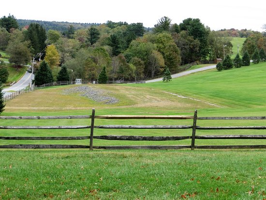 Bethel, État de New York : The site where the stage once stood at Woodstock