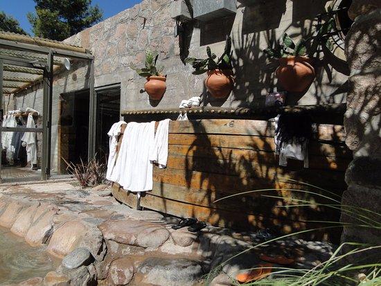 Termas Cacheuta - Terma Spa Full Day: Area de toallas y batas