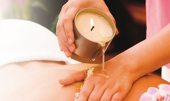 Tarn-et-Garonne, ฝรั่งเศส: Massage à la bougie au beurre de karité.