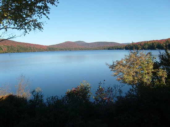 Raquette Lake, NY: view from the property near the main house