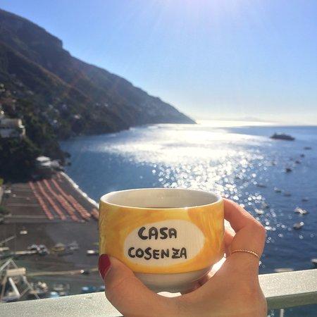 Casa Cosenza: breakfast on our balcony
