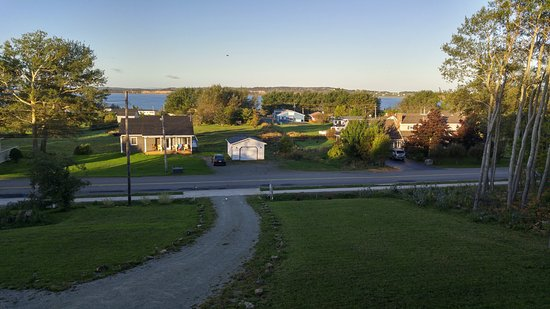 Port Hood, Canada: View from the second floor deck just off the dining room.