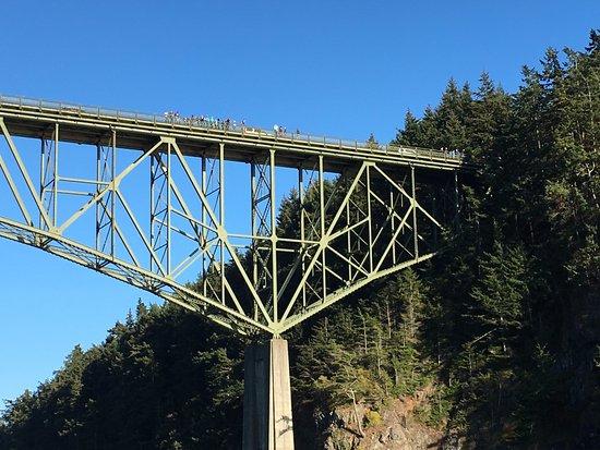 Edmonds, WA: We went under this bridge. Pretty cool.