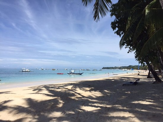 Boracay Beach Houses: View from just outside the property
