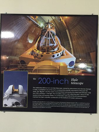 Palomar Mountain, CA: 200-inch Hale Telescope placard