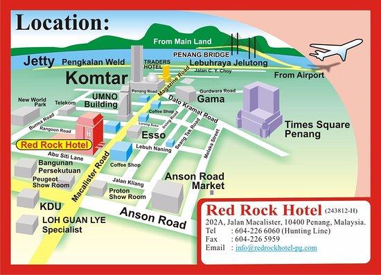 Red Rock Hotel Penang Rooms