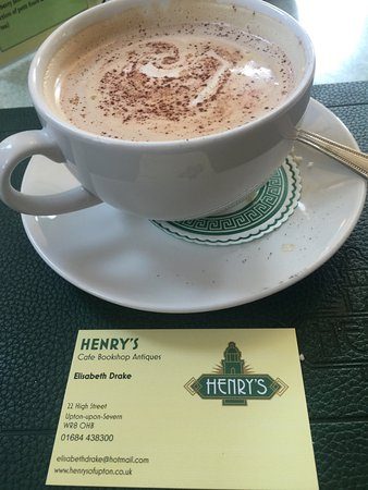 Cappuccino business card picture of henrys cafe bookshop henrys cafe bookshop antiques cappuccino business card reheart Image collections