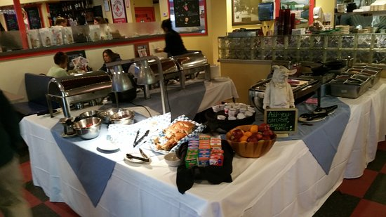 Tilton, NH: Lots of variety for the Sunday breakfast buffet!
