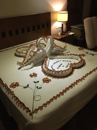Honeymoon Decoration In Maldives : Honeymoon decoration by Ahmed - Picture of Adaaran Club Rannalhi ...
