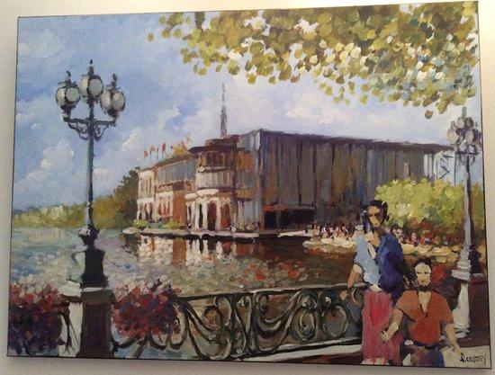 Enghien Les Bains, Francia: Tableau original de Vincent Couppey artiste du Val d'Oise