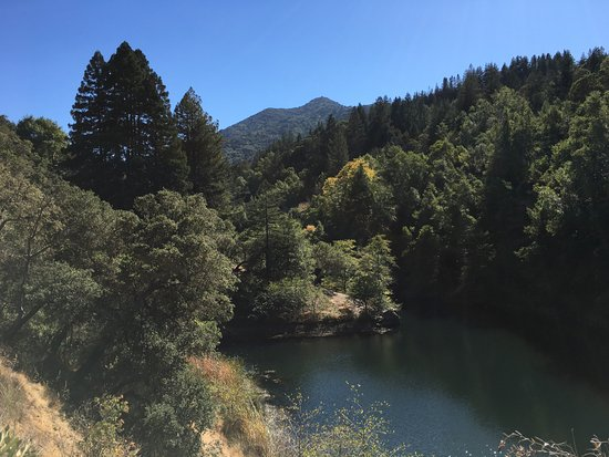 Ross, CA: towards the far end of the reservoir