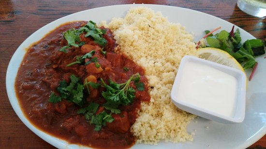 Budleigh Salterton, UK: Lamb Tagine and cous cous