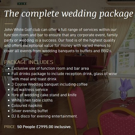 Rushden, UK: our 2016 / 2017 Wedding package