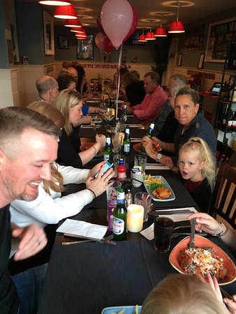 Denton, UK: Party at Mamma Mia award winning restaurant for best small Italian restaurant in the North West