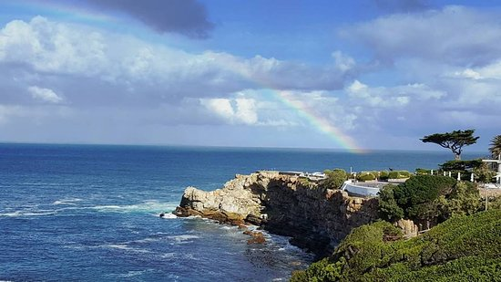 Hermanus, South Africa: Our view over Walker Bay
