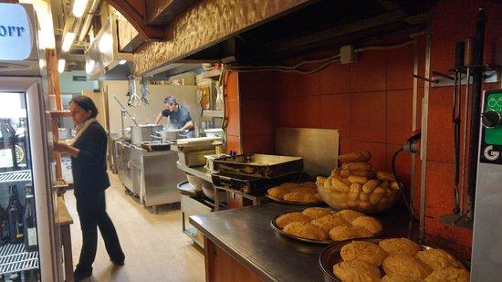 Tamburini : The kitchen.