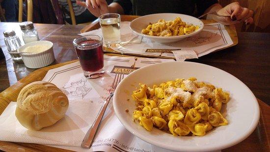 Tamburini : Sample meal.