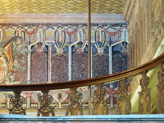 Guaranty / Prudential Building: Dazzling lobby decorations use tile, metal and mosaic