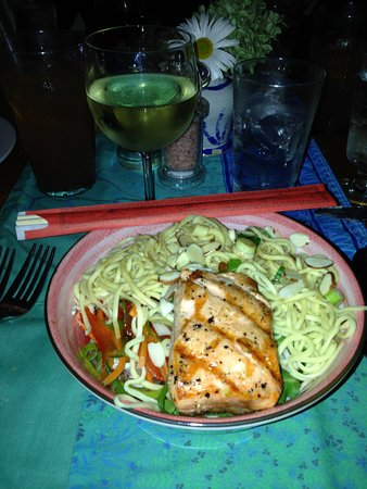 Stonington, CT: Asian Noodle Bowl with Salmon