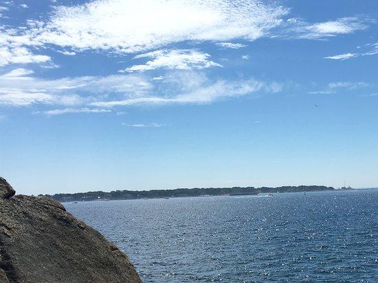 Stage Fort Park and Beach: Можно забраться на камни