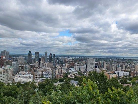 Montreal, Canada: vista desde el mirador del Chalet du Mont-Royal