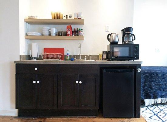 Coxsackie, Nowy Jork: Kitchenette, Room 1.
