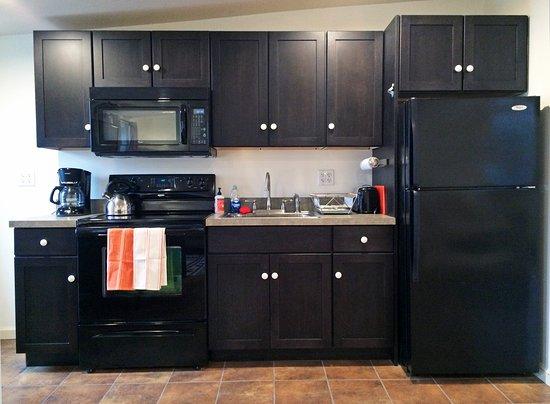 Coxsackie, Estado de Nueva York: Full kitchen in Room 4.